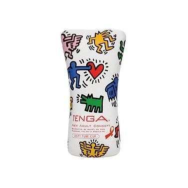 Мастурбатор Keith Haring Soft Tube CUP (мягкое обволакивание)