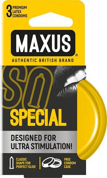 Презервативы с точками и рёбрами в железном кейсе MAXUS Special