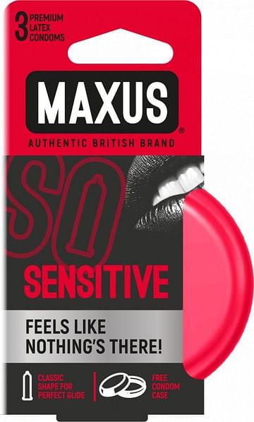 Ультратонкие презервативы в железном кейсе MAXUS Sensitive.