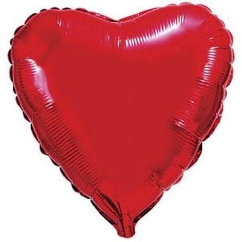 """Большое фольгированное сердце 30""""/76 см."""