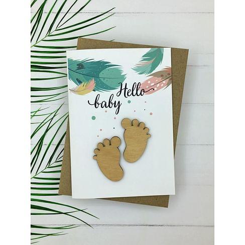 Открытка «Hello baby» + конверт