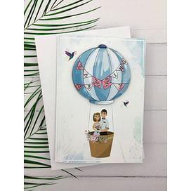 Открытка «Воздушный шар. С Днем Свадьбы» + конверт