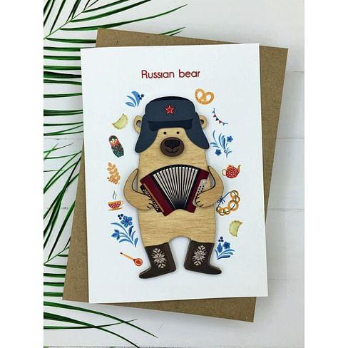 Открытка «Russian Bear» + конверт