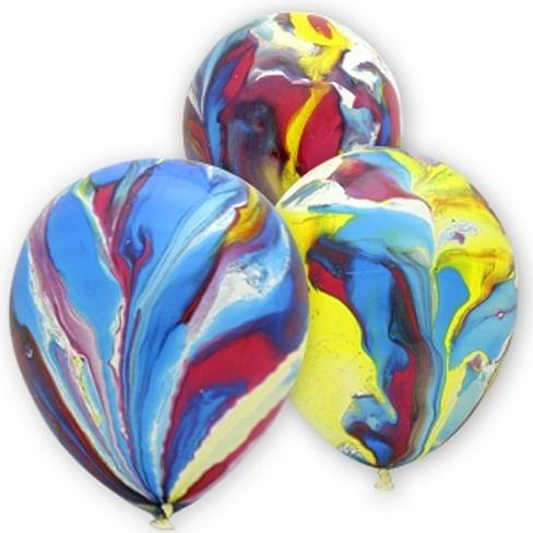 Многоцветный шар латекс 12/30см