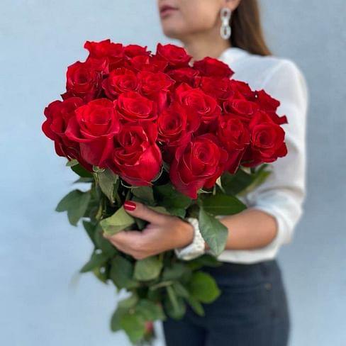 Букет роз 80 см 21 роза