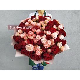 """Букет """"Счастье"""" 55 роз"""