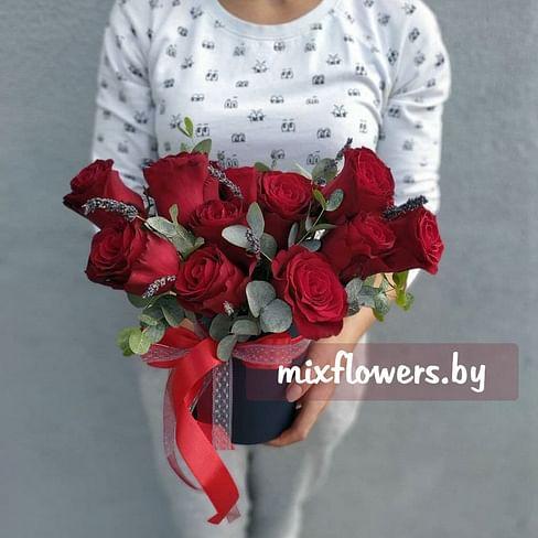 "Розы в коробке ""Бонжур"""