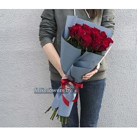 """Букет роз """"Фаина"""" 60 см 15 роз"""