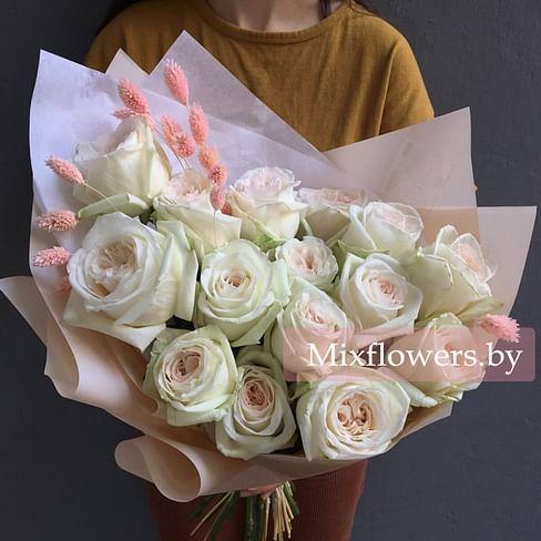 """Букет пионовидных роз """"Нежная мелодия"""" 15 роз Пионовидные розы"""