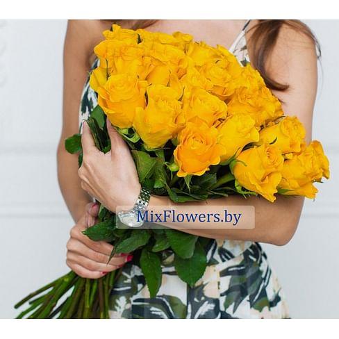 Букет из желтых роз (60 см)