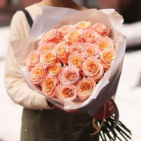 """Букет пионовидных роз """"Прелестный"""" 21 роза"""