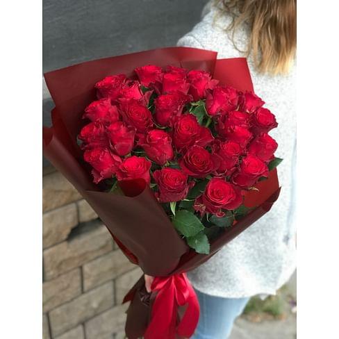 """Букет роз """"Маэстро"""" 25 роз Кенийская роза"""