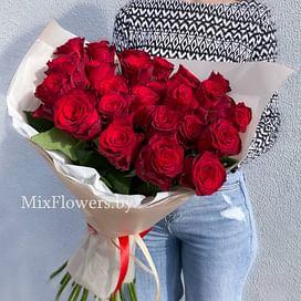 """Букет кенийских роз 60 см """"Лора"""" 25 роз"""