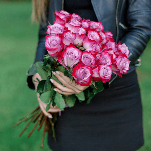 """Букет """"Глубина"""" 25 роз"""