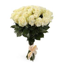 """Букет роз """"White"""" 31 роза Эквадорская роза"""