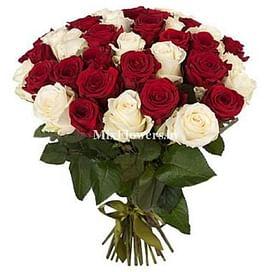 """Букет роз """"Очарование"""" 41 роза Эквадорская роза"""