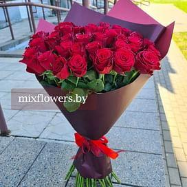"Букет роз ""Фантастика"" 60 см 51 роза Кенийская роза"