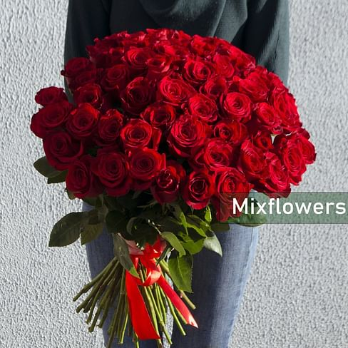 "Букет роз ""Amour"" 51 роза Эквадорская роза"