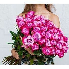 "Букет роз ""Deep Purple"" 51 роза Эквадорская роза"