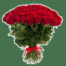 """Букет роз """"Большая звезда"""" 75 роз Эквадорская роза"""
