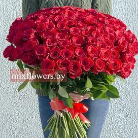 """Букет из 101 розы """"Шик"""" 101 роза Эквадорская роза"""