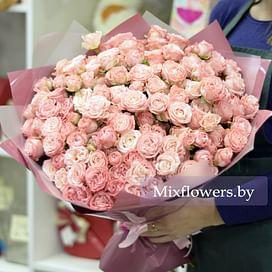 Букет из кустовых роз № 6 25 роз