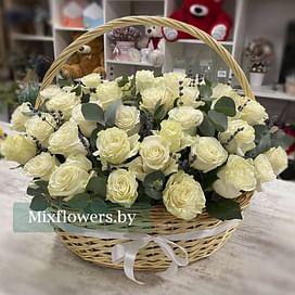"Корзина роз ""Вальс"" 51 роза Эквадорская роза"