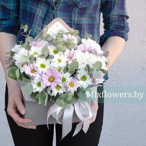 """Конверт """"Нежный"""" Цветы в коробке"""
