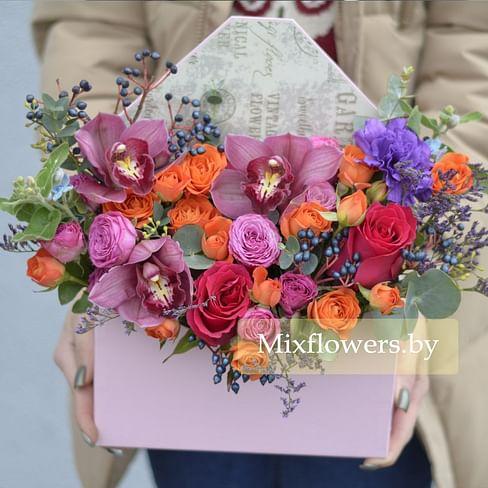 """Композиция в конверте """"Ягодная поляна"""" Цветы в коробке"""
