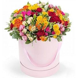 """""""Кустовые розы"""" Розы в коробке 25 роз"""
