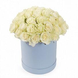 """Жемчужина"" Розы в коробке 35 роз"