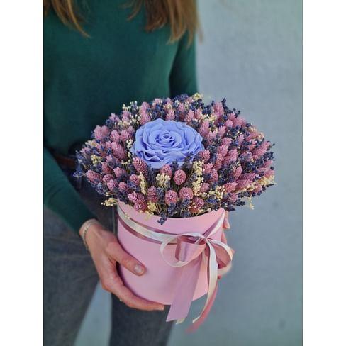 """Сухоцветы в коробке """"Блюз"""""""