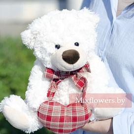 Плюшевый медведь Тишка 30 см Белый