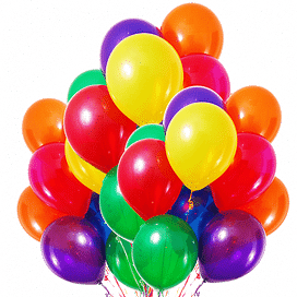 Микс из 25 шаров, ассорти, пастель. 30 см