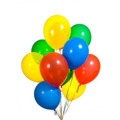 10 цветных шаров 30 см. С обработкой Hi-Float!