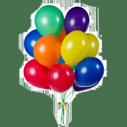 "15 цветных шаров размера 12"""
