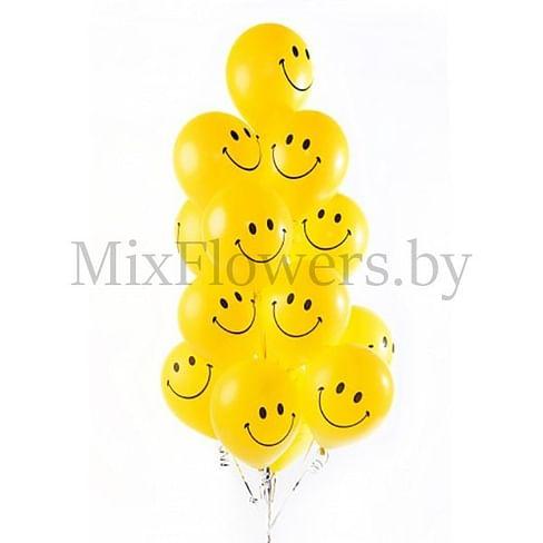 15 латексных шаров 30 см (Смайл)