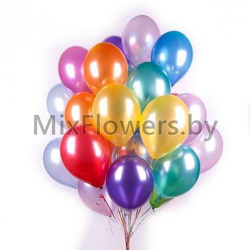 25 латексных шаров 30 см (Металлик, ассорти)