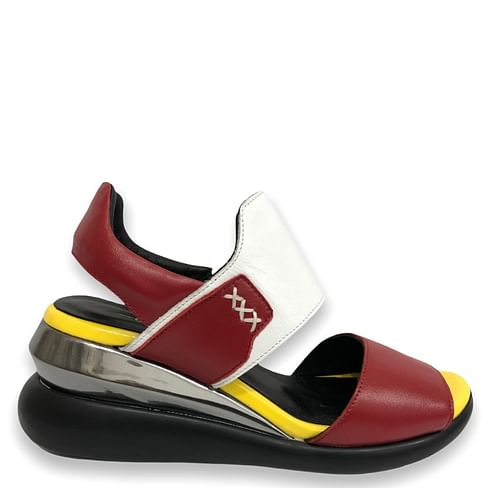Босоніжки Туреччина червоно-біло-жовті G.U.E.R.O 228