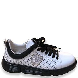 Кросівки біло-чорні Турция NOD-TREND 022