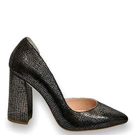 Туфлі Турция темно-срібні NOD TREND 008