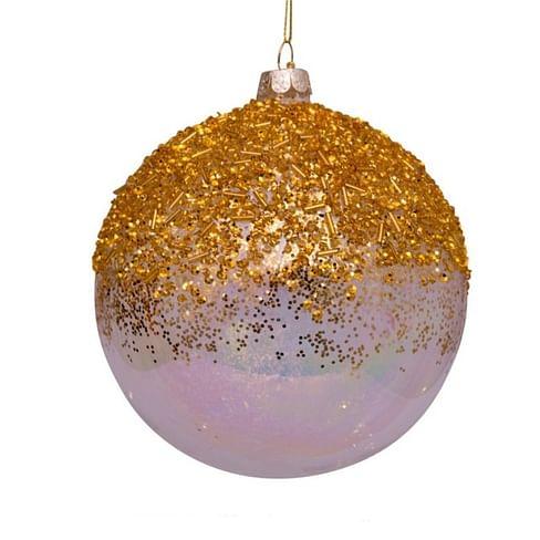 Новогоднее украшение Vondels Oil transparent w/gold bead decoration Арт.1181230130077