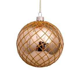 Новогоднее украшение Vondels Gold with glitter web Арт.3181260100017