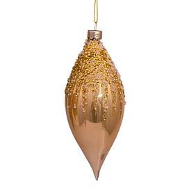Новогоднее украшение Vondels Ecru opal beaded/pearl top decoration Арт.4181363150017