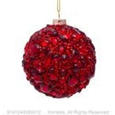 Новогоднее украшение Vondels Bauble red diamonds allover Арт.8191240080012