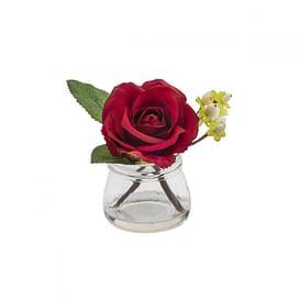 Роза с ягодами в стекле SIA Арт.093893