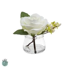 Роза с ягодами в стекле SIA Арт.093892