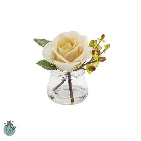 Роза с ягодами в стекле SIA Арт.093885
