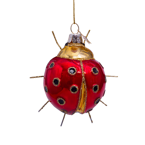 Новогоднее украшение Vondels Red/gold ladybug Арт.1207000090010