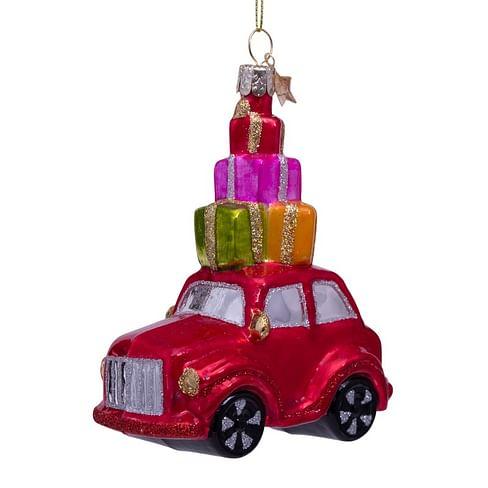 Новогоднее украшение Vondels Red car w/presents on top Арт.1202740115030